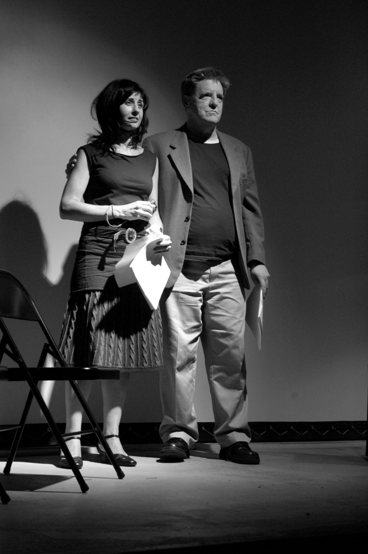 Karla Milosevich and Kevin Killian performing in 'Celebrity Hospital.'