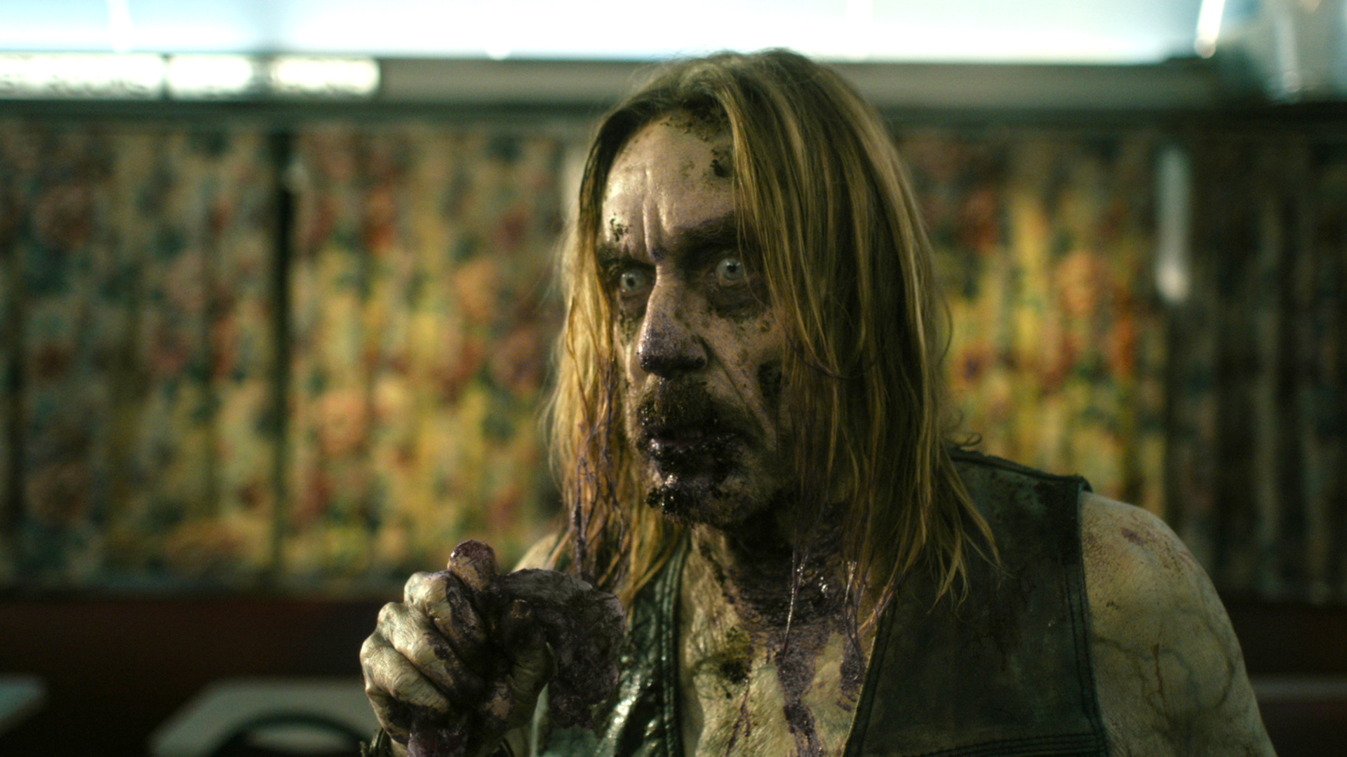 "Iggy Pop stars as ""Male Coffee Zombie"" in writer/director Jim Jarmusch's 'The Dead Don't Die.'"