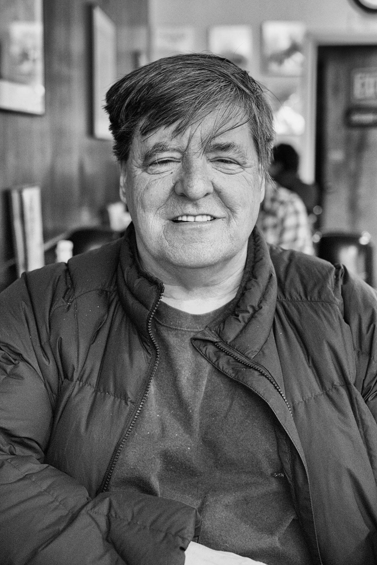 Kevin Killian at Jim's on Mission Street, 2012.