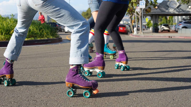 The Oakland Rollers meet up on Wednesdays at Lake Merritt, and everyone is welcome.