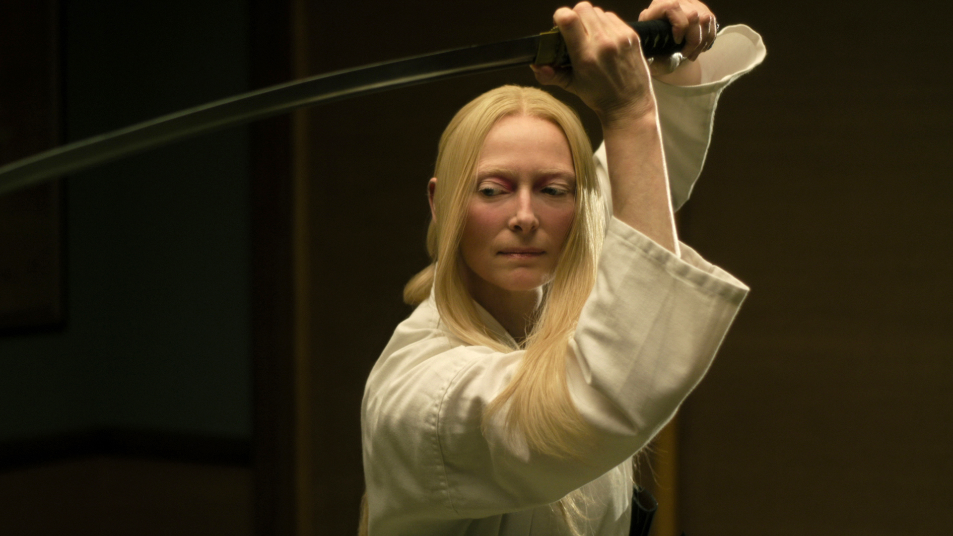 "Tilda Swinton stars as ""Zelda Winston"" in writer/director Jim Jarmusch's 'The Dead Don't Die.'"