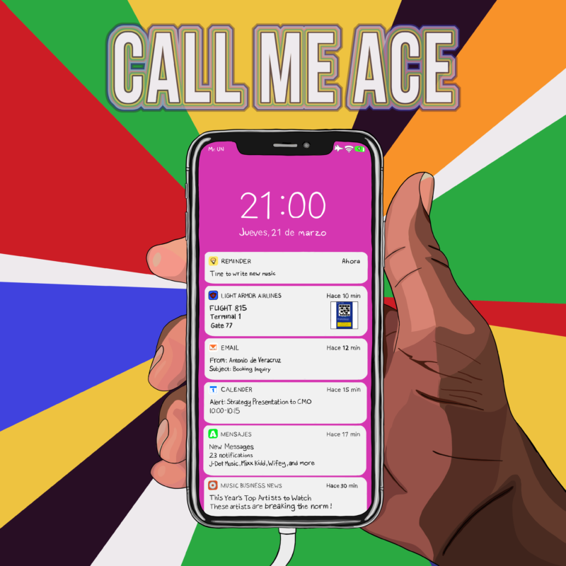 Album art for Call Me Ace's 'Airplane Mode.'