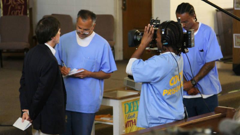 San Quentin News reporters interview Ken Burns.