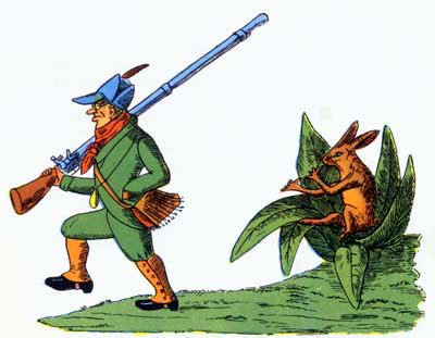 """The Story of the Man That Went Out Shooting"" from 'Der Struwwelpeter.'"