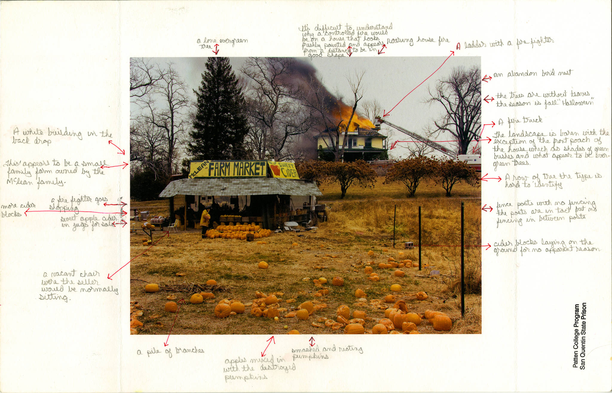 Nigel Poor and Frankie Smith, 'Mapping Joel Sternfeld, side A,' 2011/12. Inkjet print, with ink notations.