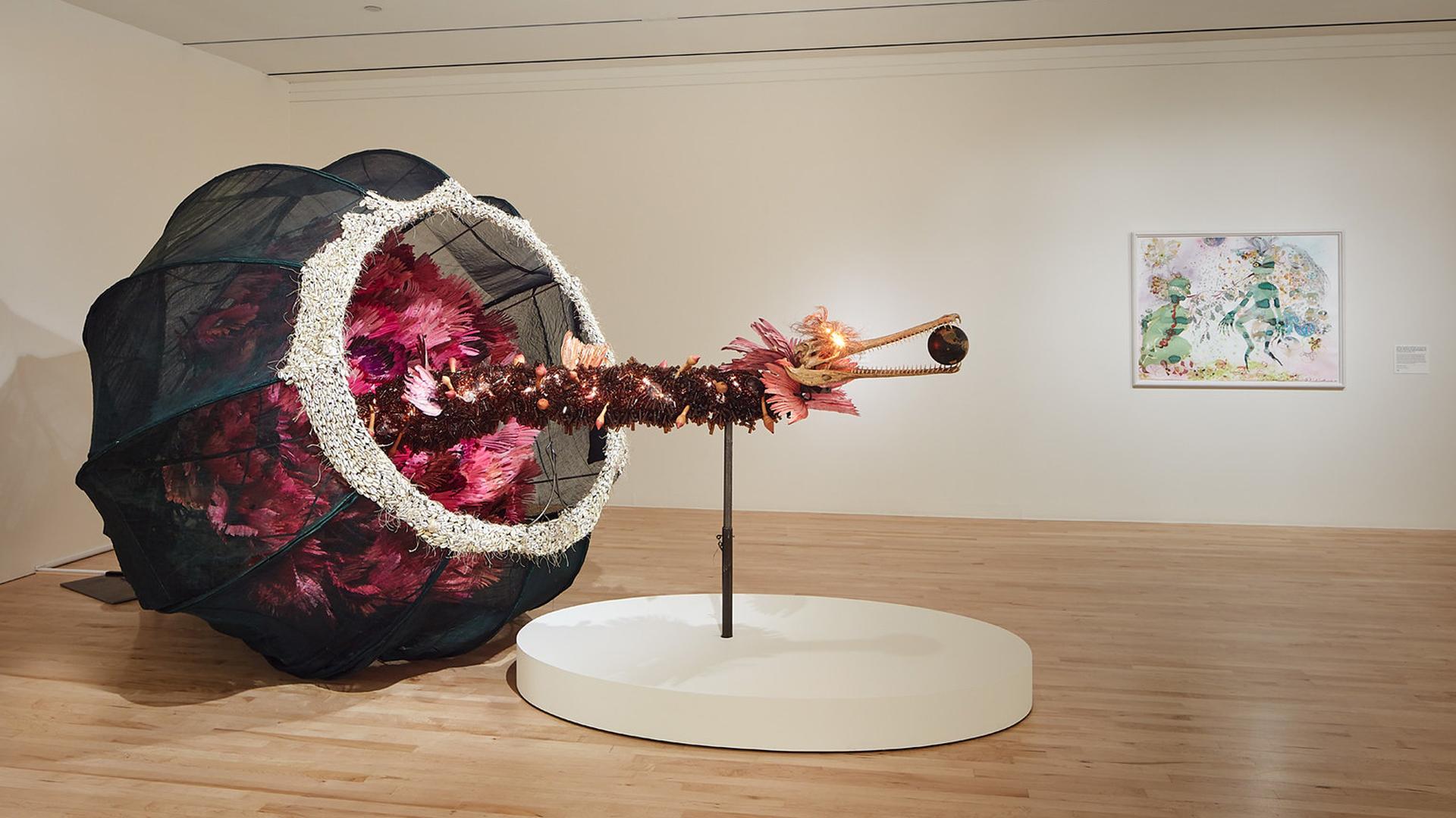 Rina Banerjee, 'The world as burnt fruit...,' 2009.
