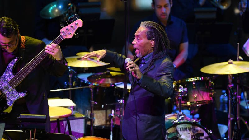 Bobby McFerrin performs during The Nearness Of You Benefit Concert at Frederick P. Rose Hall, Jazz at Lincoln Center on January 20, 2015 in New York City.
