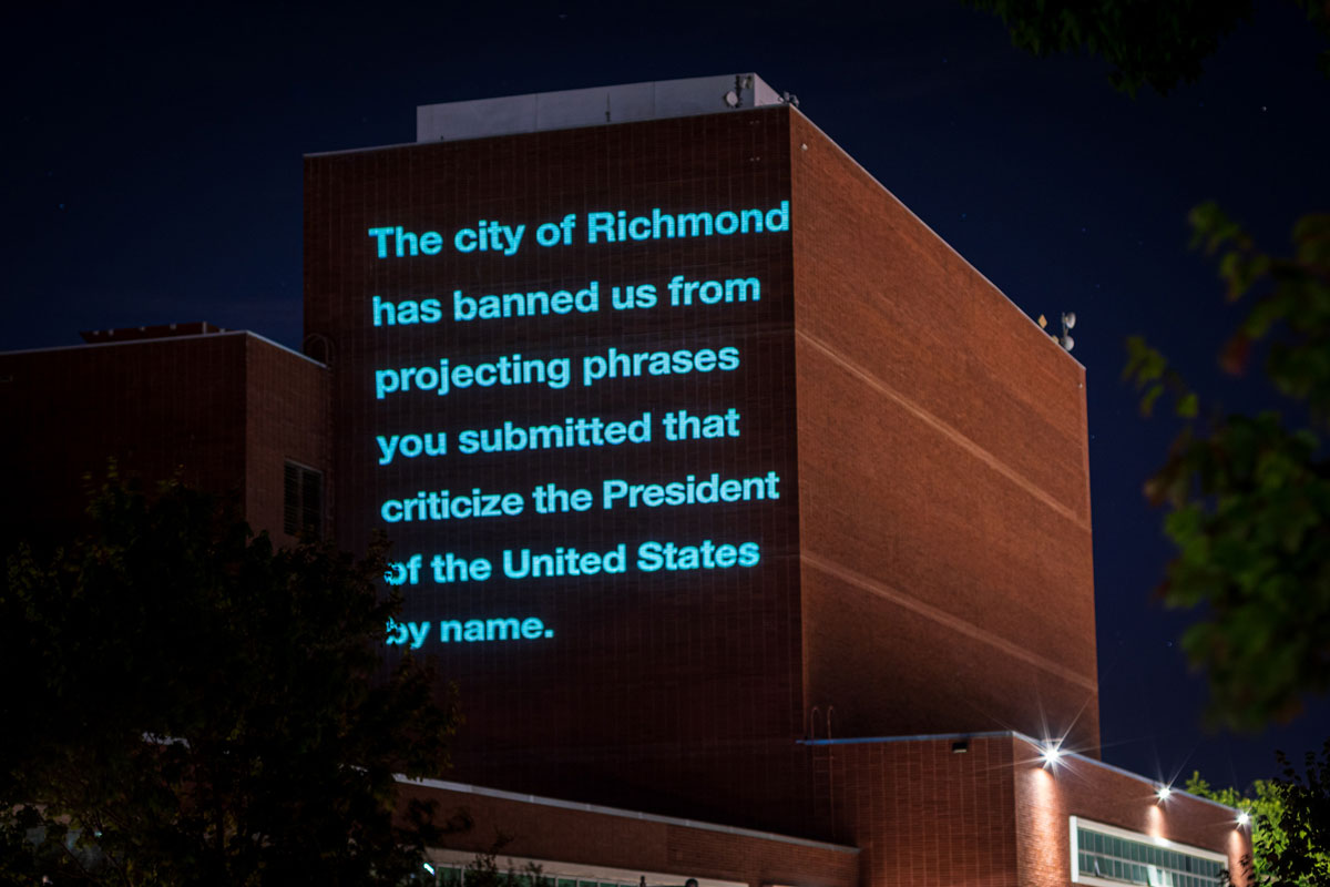"The ""disclaimer"" Chan inserted into the 'Inside Out' video following the city attorney's recommendation to remove a phrase critical of the president."