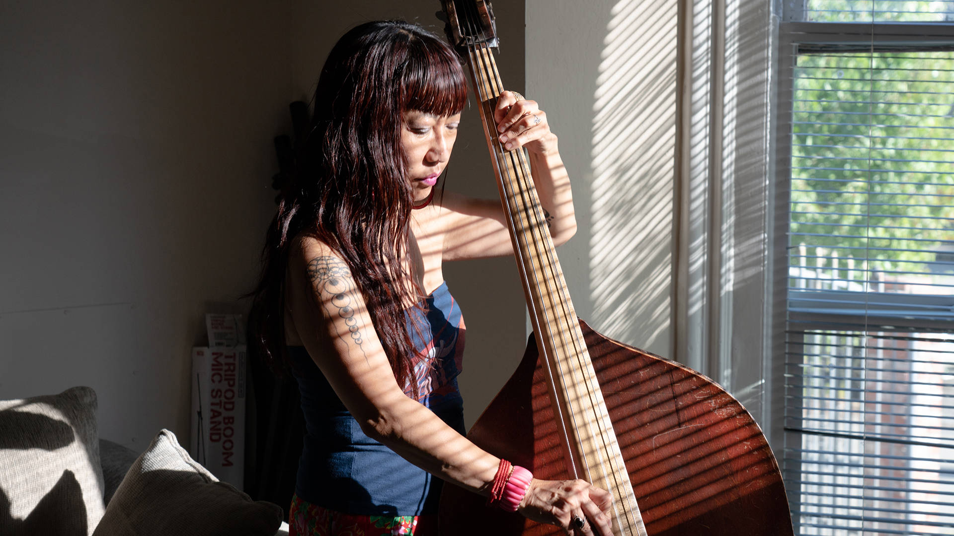 Active in the Bay Area's jazz scene since 1999, Caroline Chung became bandleader to advocate for fair pay for herself and her players. Graham Holoch