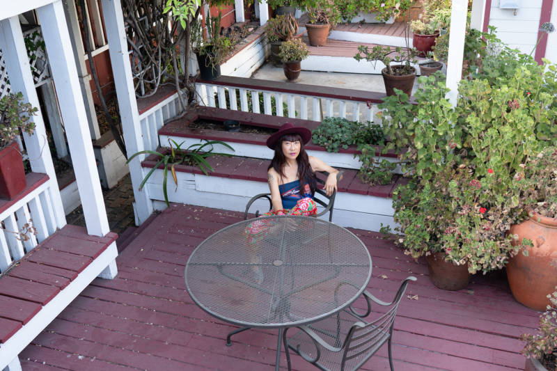 Chung's spacious West Oakland home is where her ensemble Citizens Jazz practices, so she doesn't have to rent a separate practice space.