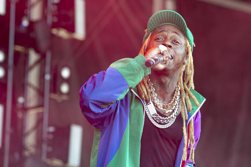 Lil Wayne performs at Outside Lands music festival in San Francisco, Aug. 9, 2019.