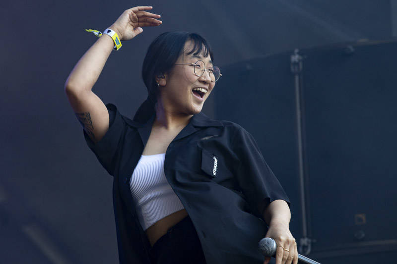 Yaeji performs at Outside Lands music festival in San Francisco, Aug. 9, 2019.
