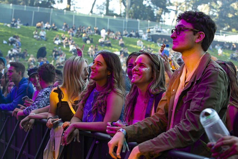 The crowd at Outside Lands music festival in San Francisco, Aug. 9, 2019.