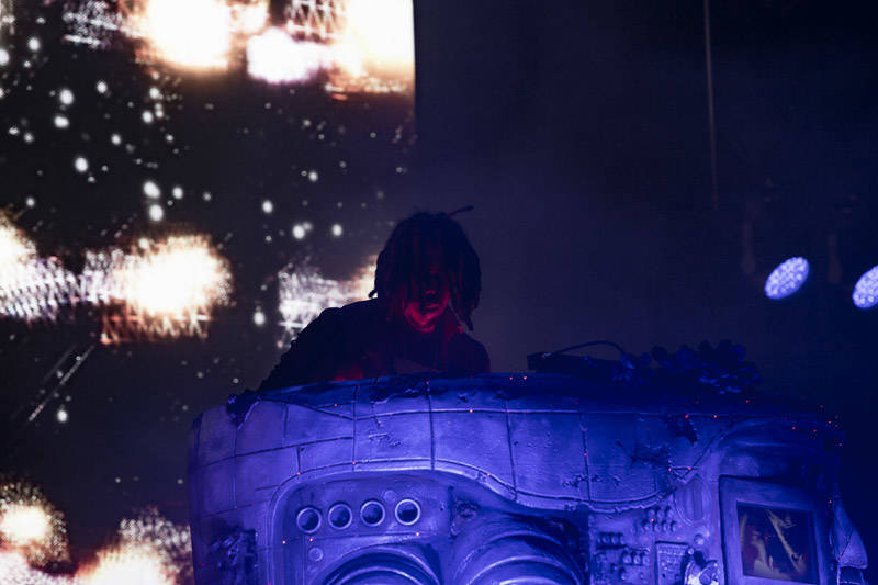 Flying Lotus performs at Outside Lands music festival in San Francisco, Aug. 9, 2019.