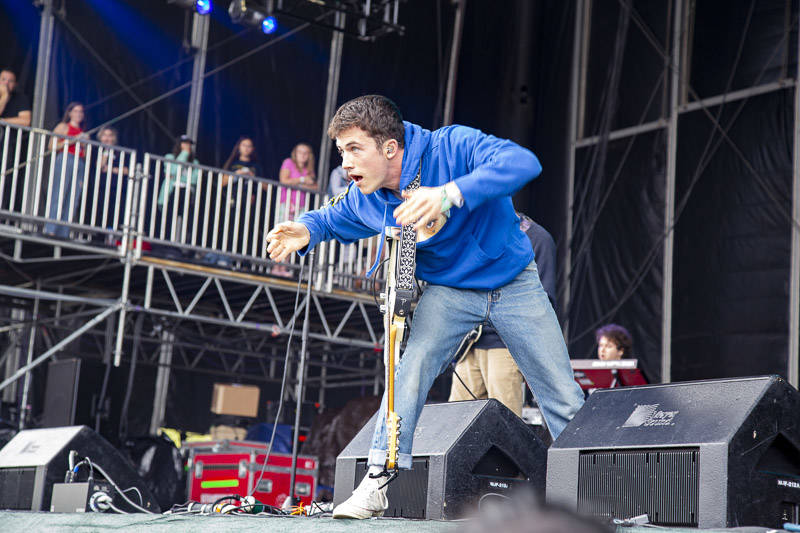 Wallows perform at Outside Lands music festival in San Francisco, Aug. 10, 2019.
