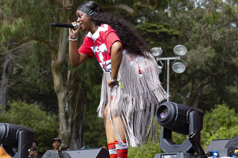 Tierra Whack performs at Outside Lands music festival in San Francisco, Aug. 10, 2019.