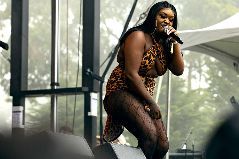 CupcakKe performs at Outside Lands music festival in San Francisco, Aug. 10, 2019.