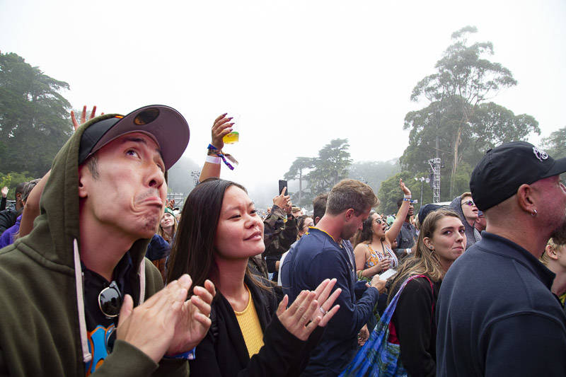 The crowd at Outside Lands music festival in San Francisco, Aug. 10, 2019.