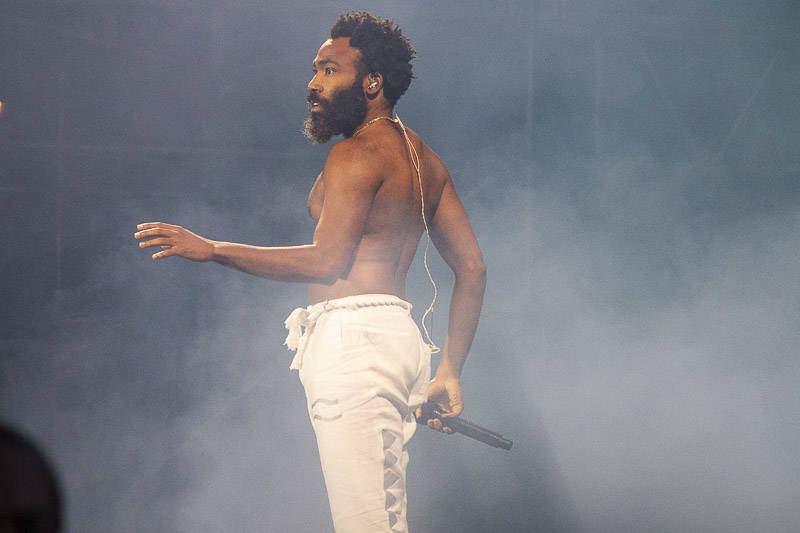 Childish Gambino performs at Outside Lands music festival in San Francisco, Aug. 10, 2019.