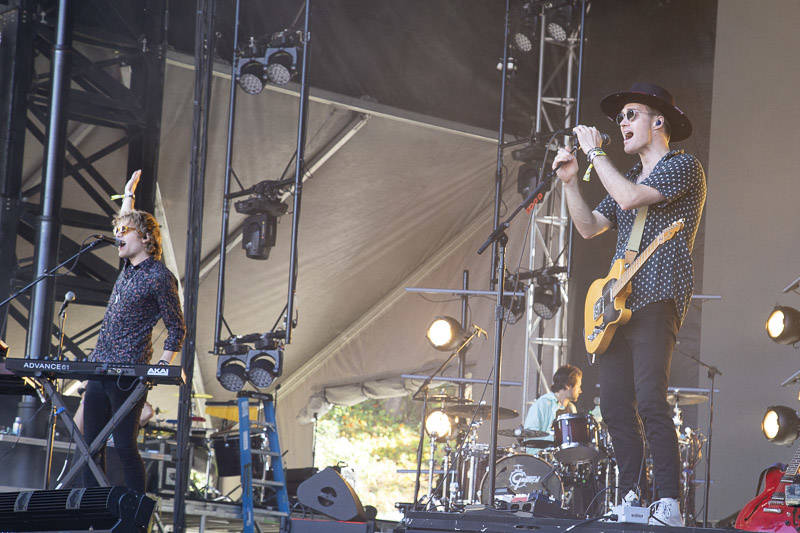 Bob Moses performs at Outside Lands music festival in San Francisco, Aug. 11, 2019.