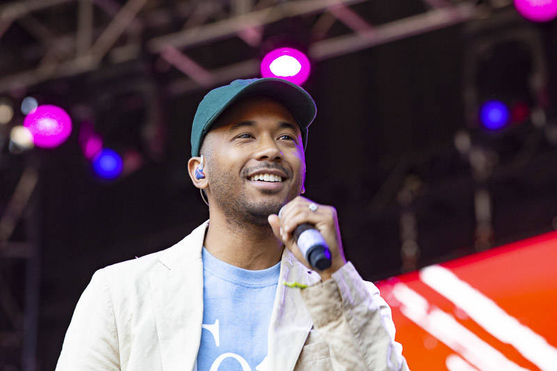 Toro y Moi performs at Outside Lands music festival in San Francisco, Aug. 11, 2019.