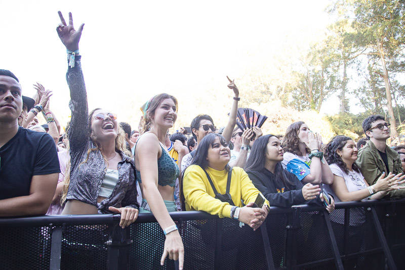 The crowd at Outside Lands music festival in San Francisco, Aug. 11, 2019.