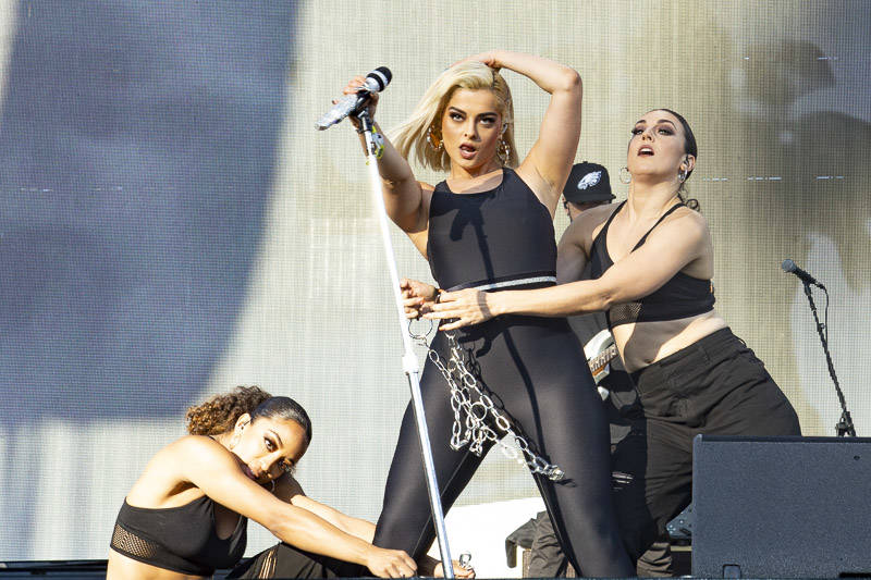 Bebe Rexha performs at Outside Lands music festival in San Francisco, Aug. 11, 2019.