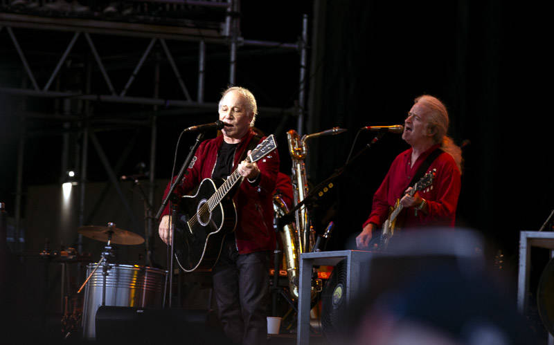 Paul Simon performs at Outside Lands music festival in San Francisco, Aug. 11, 2019.