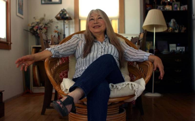 Sachiko Kanenobu in her Glen Ellen home, where she's lived since 1976.