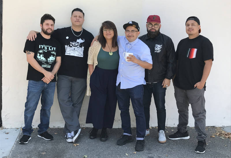 Sonido Clash members (from left to right) Fernando J. Pérez Fiesco, Ramon Zepeda, Quynh-Mai Nguyen, Angel Luna, Thomas Aguilar and Osvaldo Chavez.