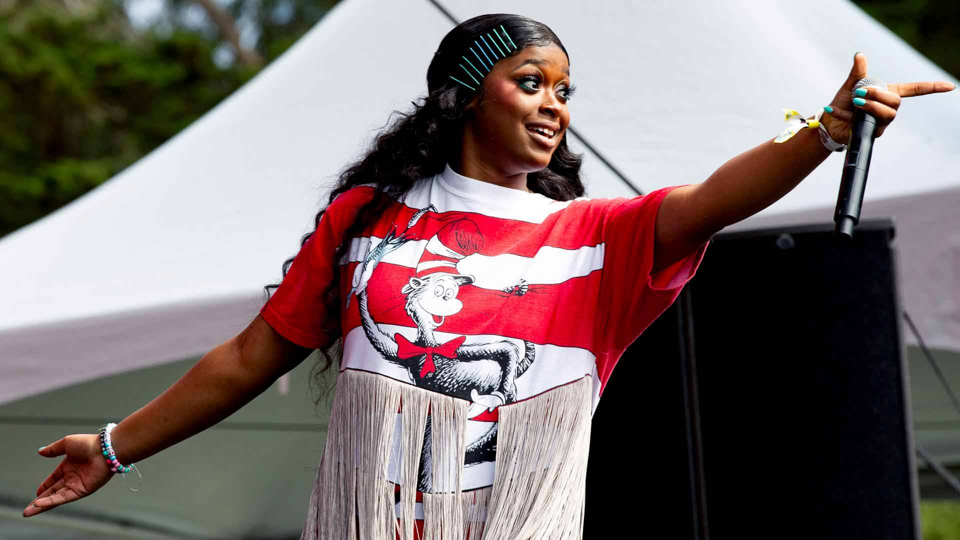 Tierra Whack performs at Outside Lands music festival in San Francisco, Aug. 10, 2019. Estefany Gonzalez