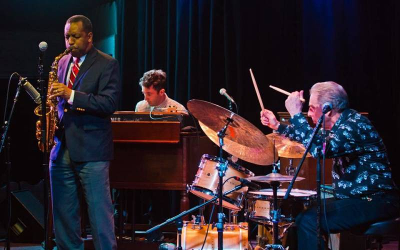 New Orleans alto sax star Donald Harrison Jr., left, and drum great Mike Clark, right, join Hammond B-3 organ master Wil Blades at his 40th birthday party and Bay Area farewell at Freight & Salvage on Aug. 25 and Kuumbwa on Aug. 26.