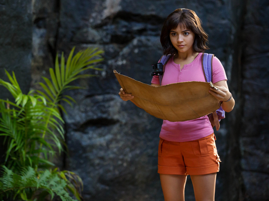 Isabela Moner stars as Dora in Dora and the Lost City of Gold