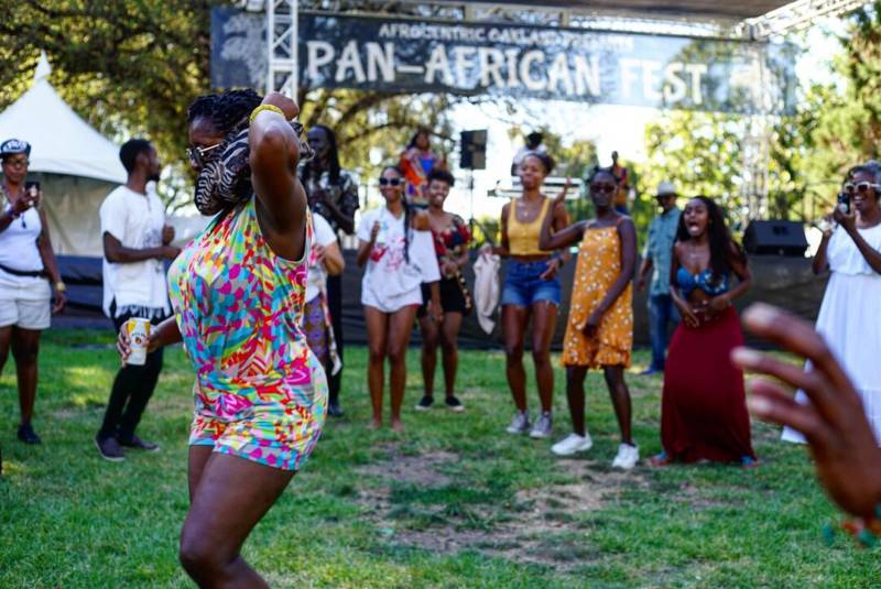 The Dance floor at Pan African Fest 2019 at Mosswood Park in Oakland