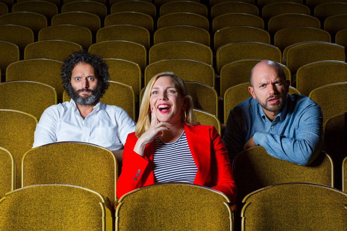 Jason Mantzoukas, June Diane Raphael and Paul Scheer host the podcast 'How Did This Get Made.'