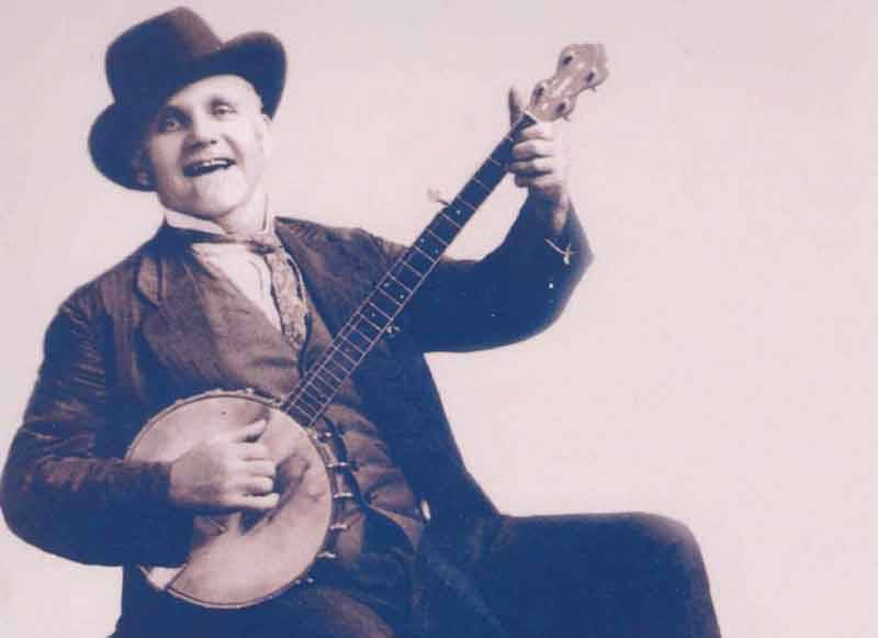 Uncle Dave Macon, the first star of the Grand Ol' Opry, performed songs and stage moves from the black tradition.