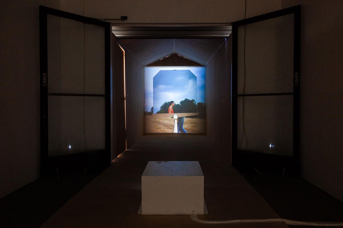 Matt Savitsky, Installation view of 'Crop Circles,' 2019.