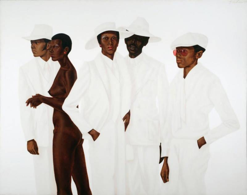"Barkley L. Hendricks, ""What's Going On"", 1974, oil, acrylic, and magna on cotton canvas."