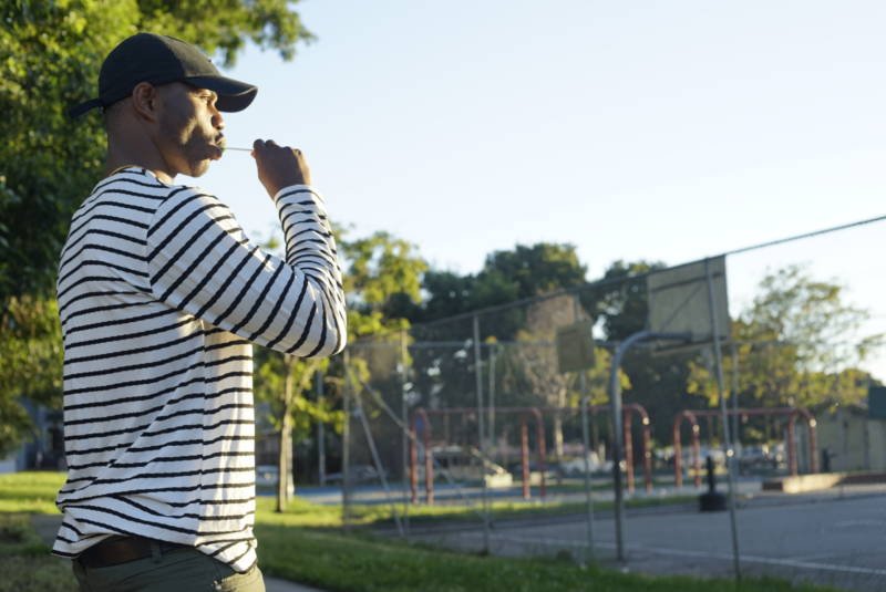 R.i.c.o G at the mini park on 14th and Willow Street in West Oakland