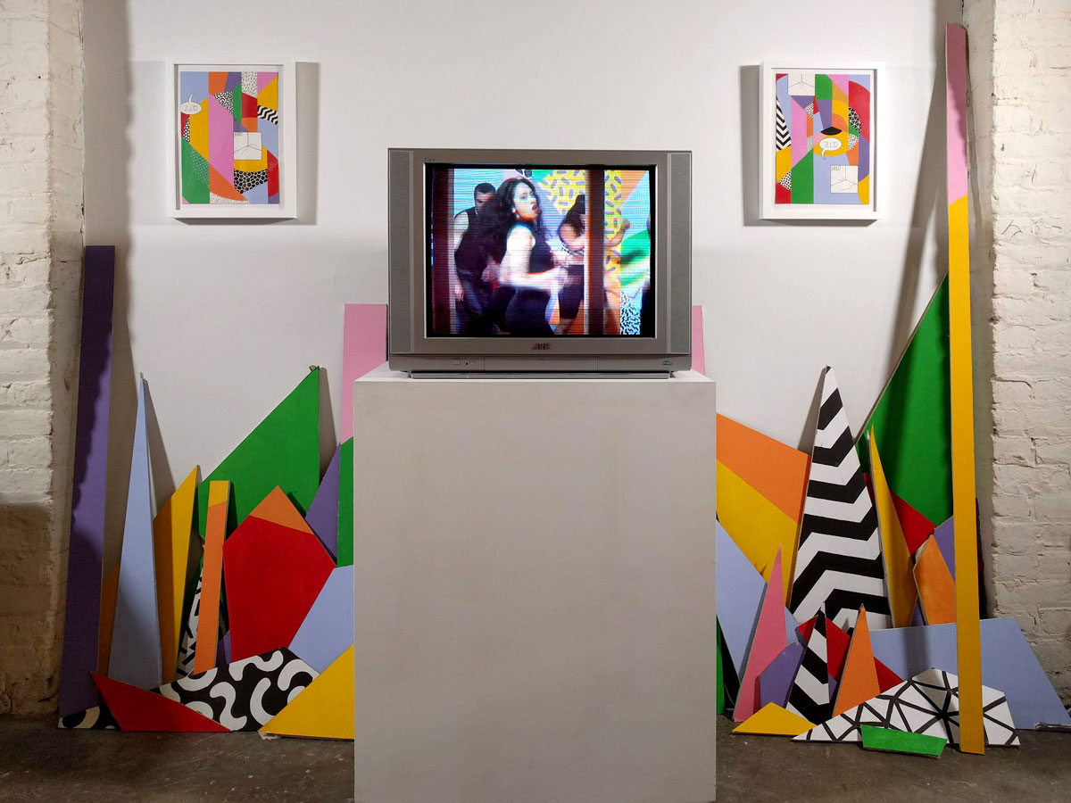 Installation view of 'Klub Rupturre!!' at Black & White Projects in San Francisco.