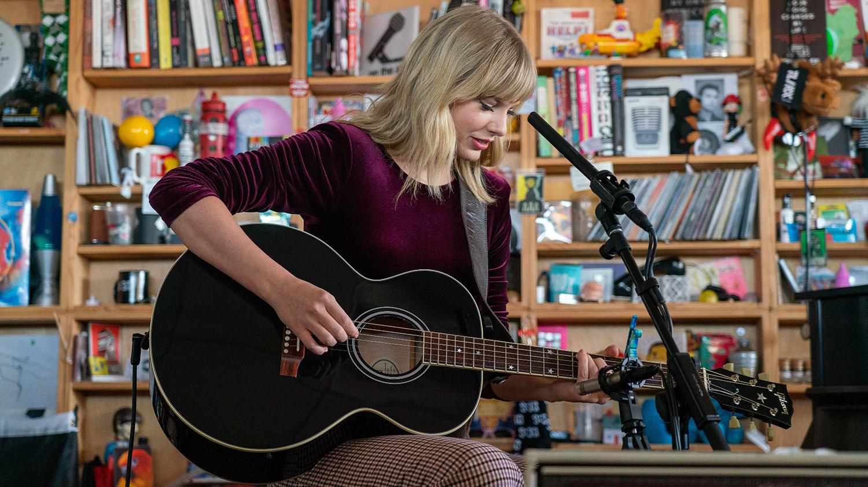 Watch Taylor Swift's NPR Tiny Desk Concert