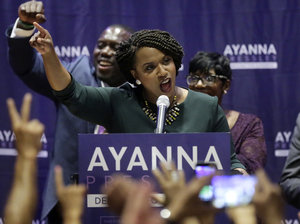 Democrat Ayanna Pressley just became the first African-American woman to represent Massachusetts in Congress.