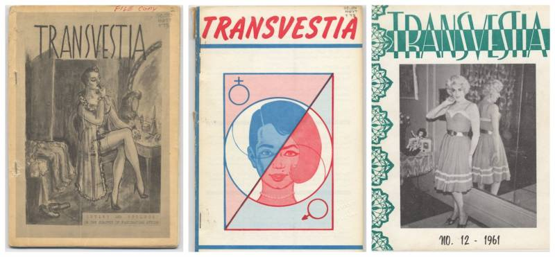 Covers of 'Transvestia' courtesy of the University of Victoria's Rikki Swin Collection.
