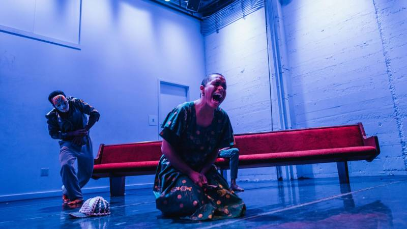"""""""mouth/full"""" performance at CounterPulse."""
