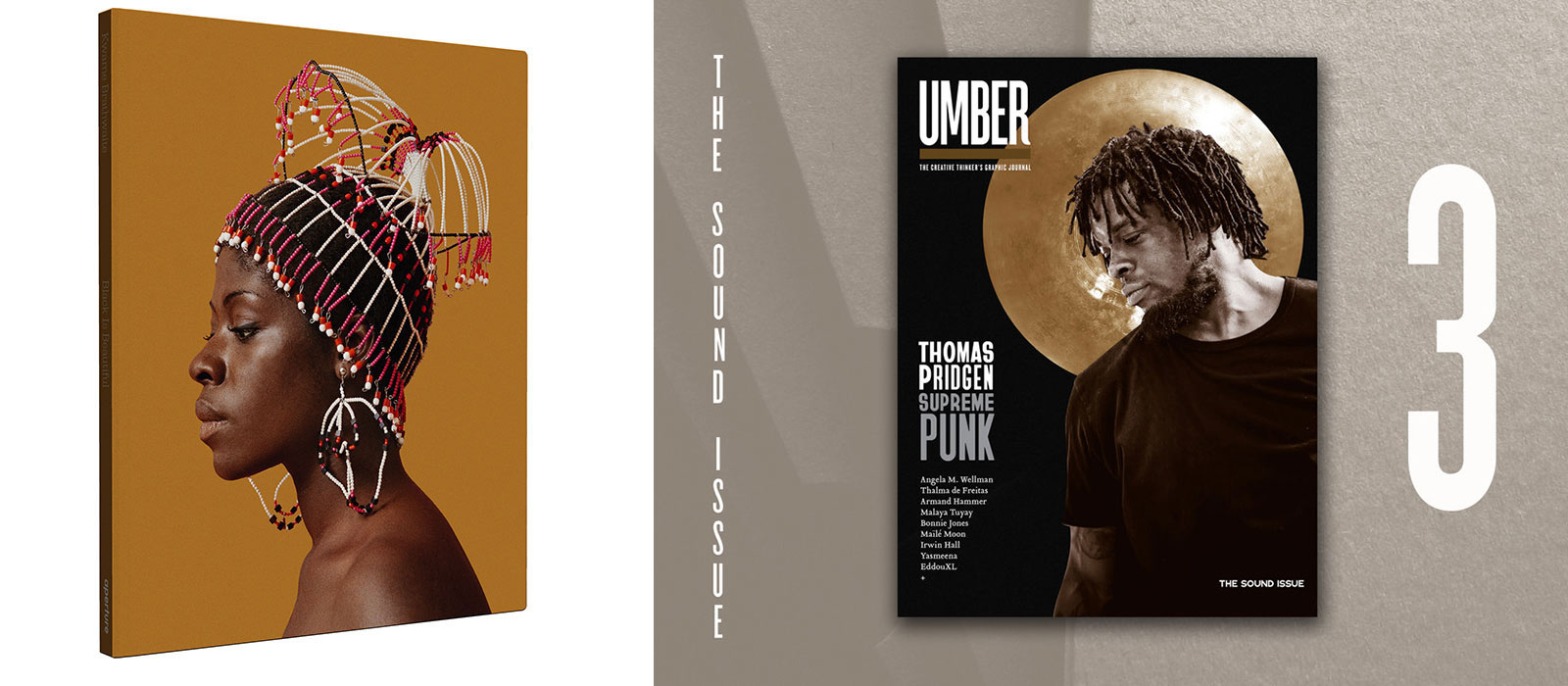 A book cover and a magazine cover.