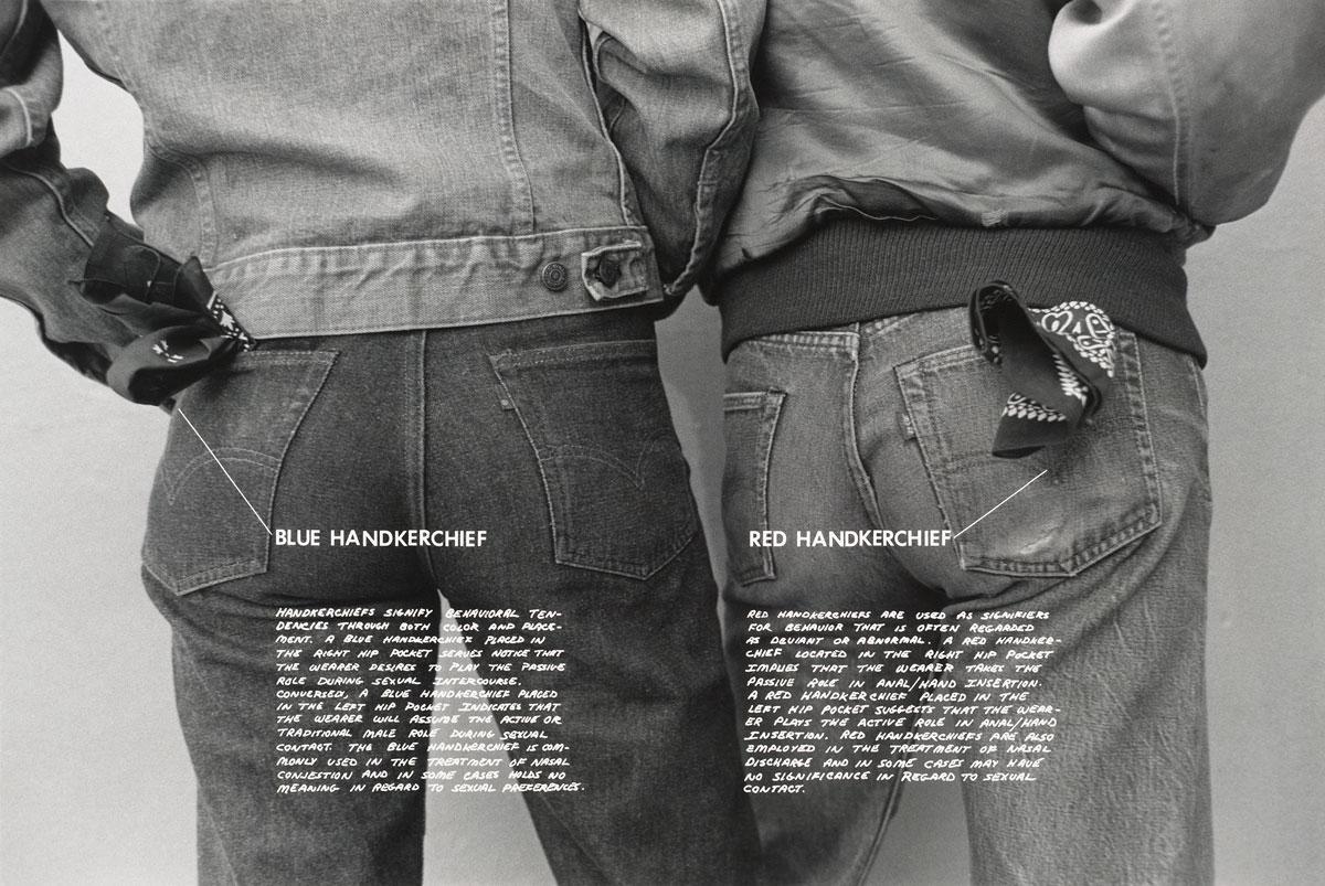 Hal Fischer, 'Handkerchiefs,' from 'Gay Semiotics,' 1977.