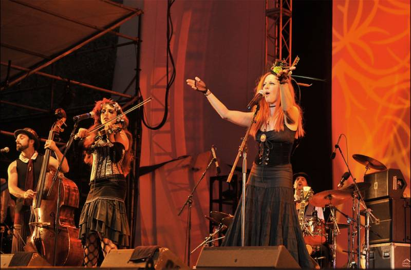Edwardian Ball hosts and progenitors, Rosin Coven, performing at the Lincoln Center in ...