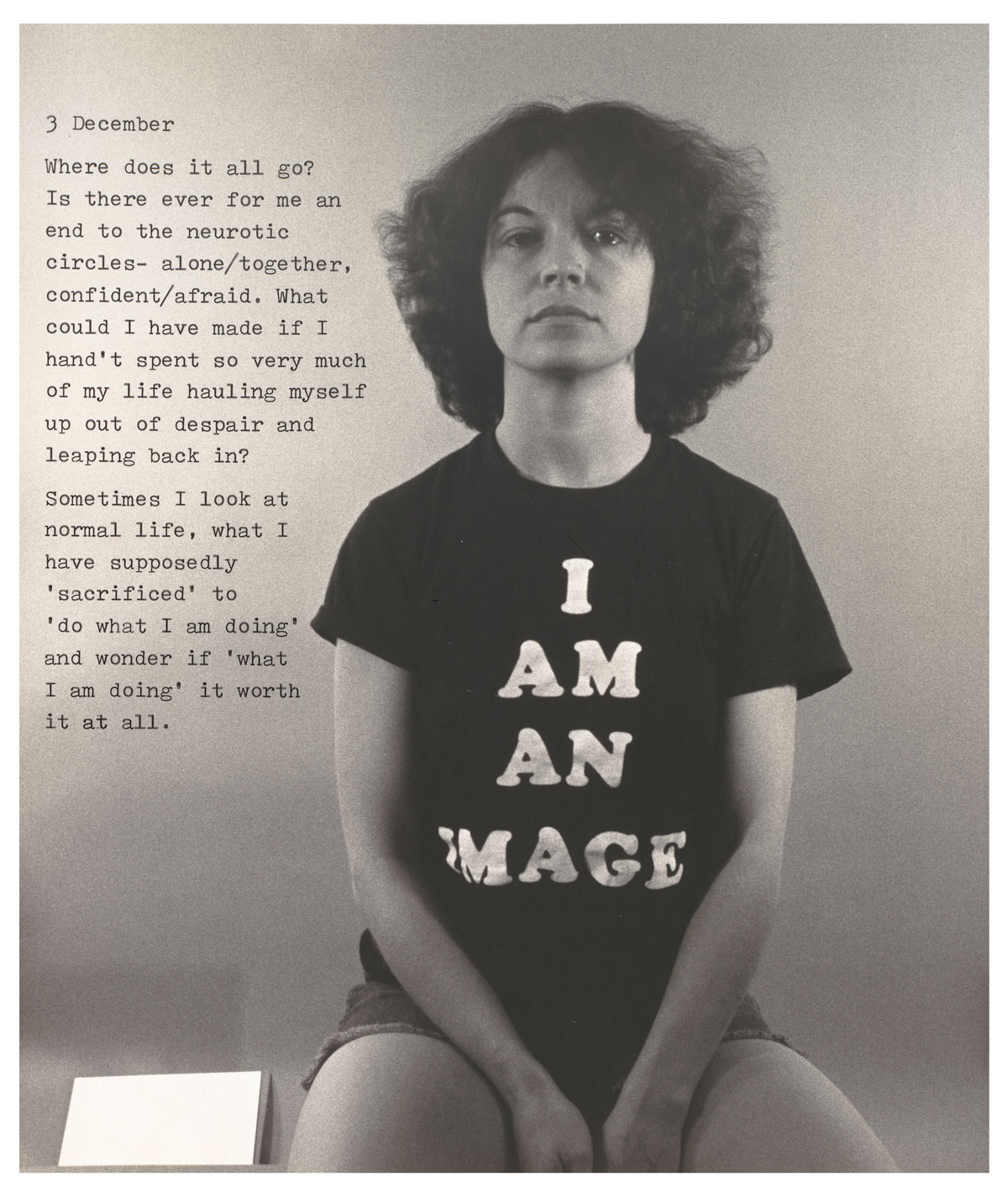 Donna-Lee Phillips, 'December 3, 1977,' from 'Fragments from a Visual Journal,' 1977.