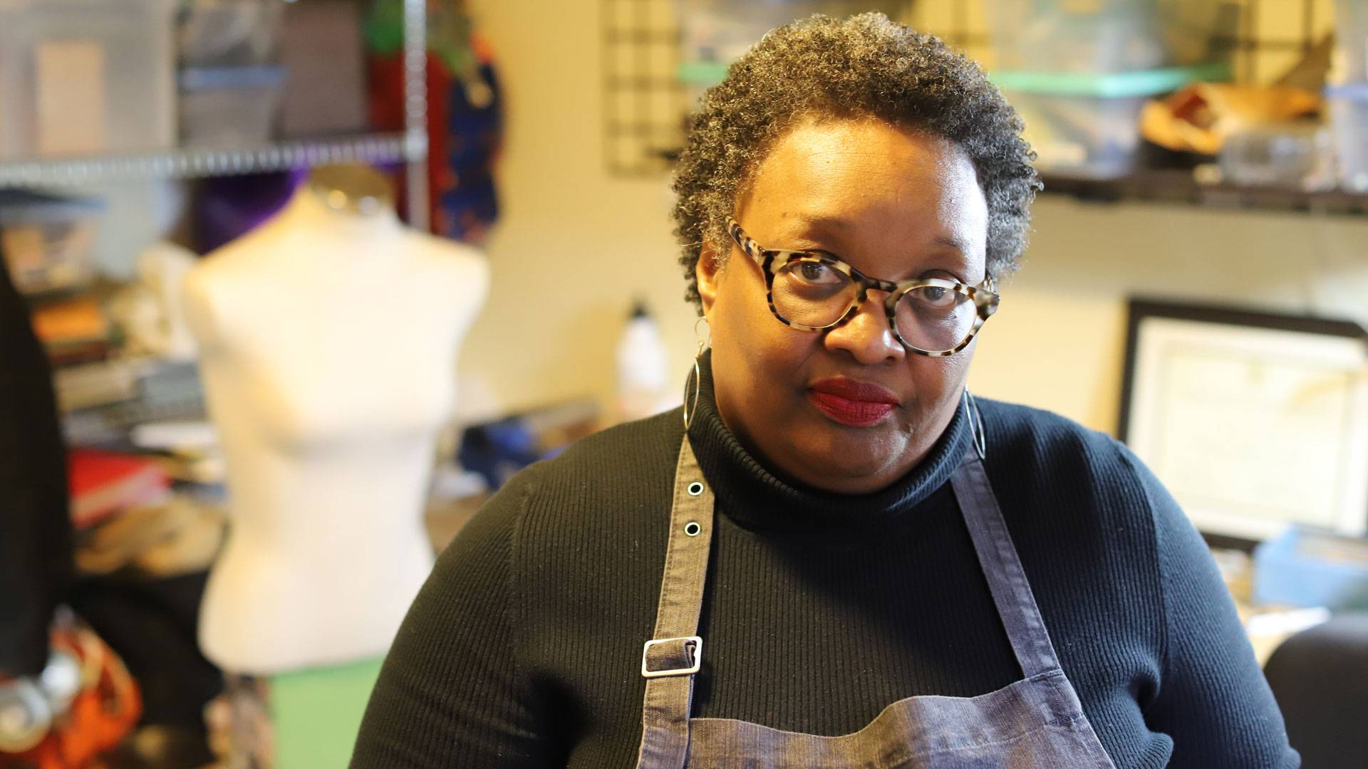 Oakland metalsmith Karen Smith is launching a new nonprofit, We Wield the Hammer, to bring metalwork to other black women and girls. Sam Lefebvre/KQED