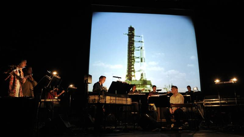 The ensemble Icebreaker, performing Brian Eno's album Apollo: Atmospheres & Soundtracks alongside pedal steel pioneer B.J. Cole on Sep. 15, 2010 in London.